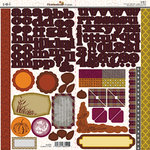 SEI - Homestead Collection - Cardstock Stickers with Foil Accents