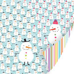 SEI - Holiday Cheer Collection - Christmas - 12 x 12 Double Sided Glitter Paper - Frosty and Franny