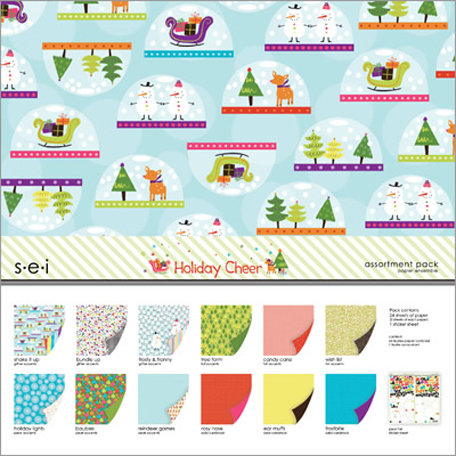 SEI - Holiday Cheer Collection - Christmas - 12 x 12 Assortment Pack