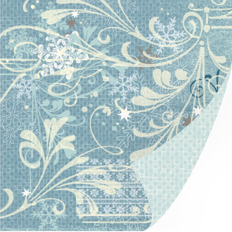 SEI - Silver Valley Collection - Christmas - 12 x 12 Double Sided Foil Paper - Blizzard