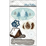 SEI - Silver Valley Collection - Christmas - 3 Dimensional Cardstock Stickers - Elements