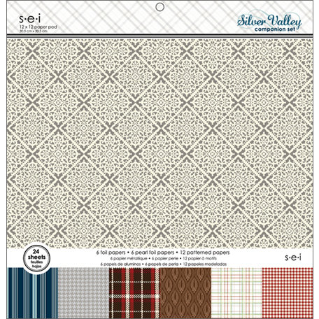SEI - Silver Valley Collection - Christmas - 12 x 12 Paper Pad