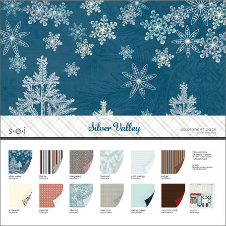 SEI - Silver Valley Collection - Christmas - 12 x 12 Assortment Pack
