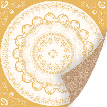 SEI - Promise Me Collection - 12 x 12 Double Sided Gold Foil Paper - Delicacy
