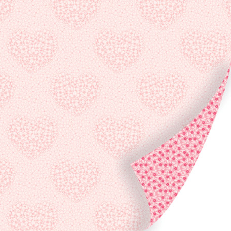 SEI - Promise Me Collection - 12 x 12 Double Sided Pink Foil Paper - Kisses