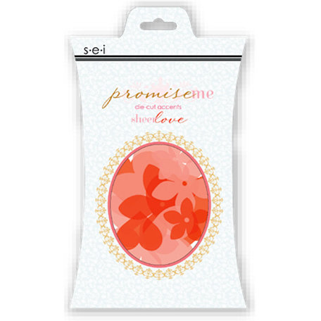 SEI - Promise Me Collection - Die Cut Accents - Flowers and Hearts
