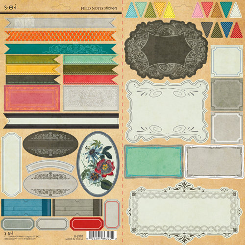 SEI - Field Notes Collection - Cardstock Stickers with Pearl Foil Accents