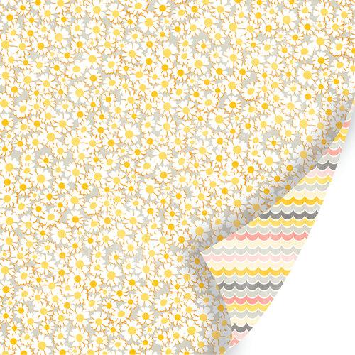 SEI - Vanilla Sunshine Collection - 12 x 12 Double Sided Glitter Paper - Sugar Daises