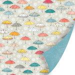 SEI - Vanilla Sunshine Collection - 12 x 12 Double Sided Glitter Paper - Sunny Shower