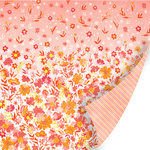 SEI - Vanilla Sunshine Collection - 12 x 12 Double Sided Pearl Foil Paper - Meringue Sunset