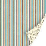 SEI - Vanilla Sunshine Collection - 12 x 12 Double Sided Blue Pearl Foil Paper - Petunia Lane