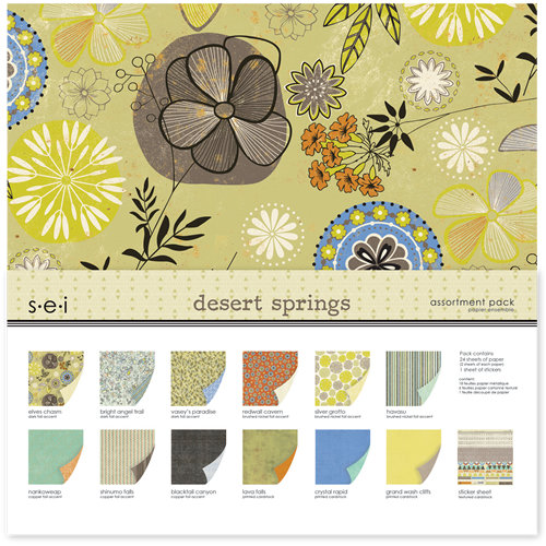 SEI - Desert Springs Collection - 12 x 12 Assortment Pack
