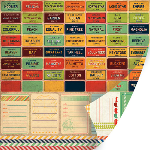 SEI - Mayberry Collection - 12 x 12 Double Sided Perforated Sheet - Interstate