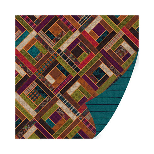 SEI - Mirelle Collection - 12 x 12 Double Sided Paper with Foil Accents - Coverlet