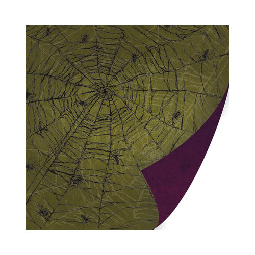 SEI - Salem Heights Collection - Halloween - 12 x 12 Double Sided Paper with Varnish Accents - Arachno Attic