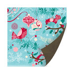 SEI - Berry Melody Collection - Christmas - 12 x 12 Double Sided Paper with Glitter Accents - Glistening Tweet