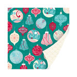 SEI - Berry Melody Collection - Christmas - 12 x 12 Double Sided Paper with Glitter Accents - Sparkling Chitter