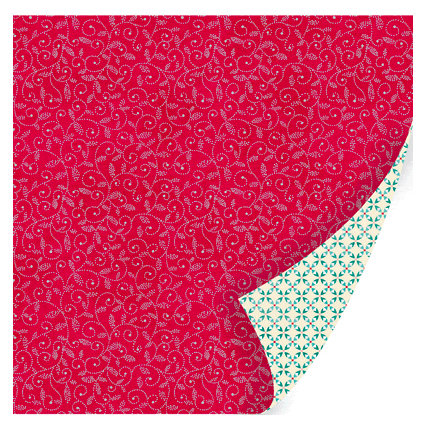 SEI - Berry Melody Collection - Christmas - 12 x 12 Double Sided Paper with Foil Accents - Merry Warble