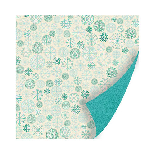 SEI - Berry Melody Collection - Christmas - 12 x 12 Double Sided Paper with Pearl Accents - Frosty Peep
