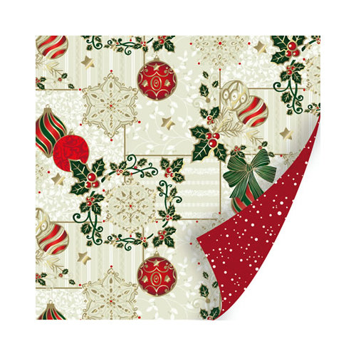 SEI - Holiday Traditions Collection - Christmas - 12 x 12 Double Sided Paper with Foil Accents - Childhood Memories