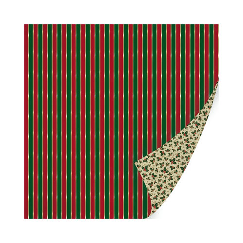 SEI - Holiday Traditions Collection - Christmas - 12 x 12 Double Sided Paper with Foil Accents - Gift Giving