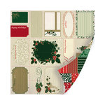 SEI - Holiday Traditions Collection - Christmas - 12 x 12 Double Sided Perforated Sheet - Christmas Quilt