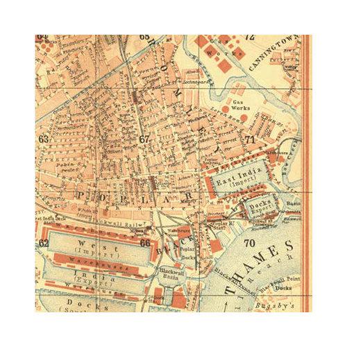 SEI - Mia Bella Collection - 12 x 12 Canvas Sheet - London Map