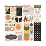 SEI - Mia Bella Collection - Cardstock Stickers with Pearl Accents