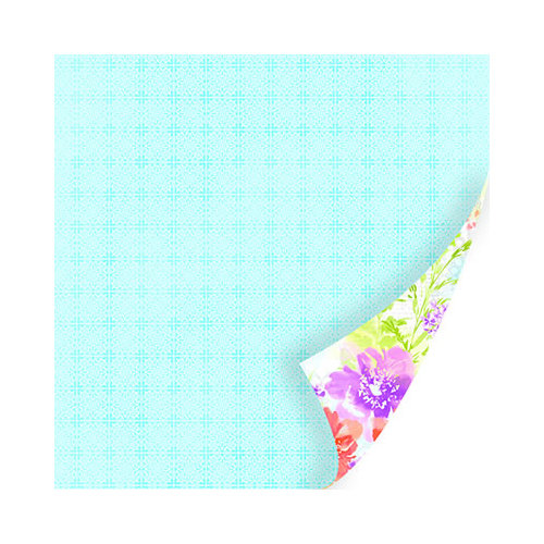SEI - Diane Collection - 12 x 12 Double Sided Paper with Pearl Accents - Lace Handkerchief