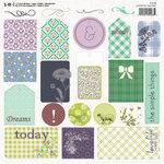 SEI - Pembroke Collection - 12 x 12 Die Cut Cardstock Tag sheet