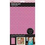 SEI - Iron-On Art - Flocked Transfer Sheet - Pink Chevron