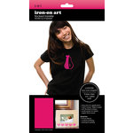 SEI - Iron-On Art - Flocked Transfer Sheet - Solid Pink