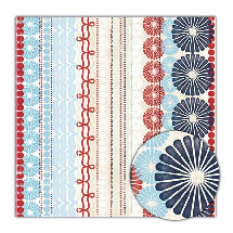 Sassafras Lass - Blue Boutique Collection - 12x12 Paper - Exuberant, CLEARANCE