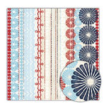 Sassafras Lass - Blue Boutique Collection - 12x12 Paper - Exuberant, CLEARANCE