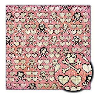 Sassafras Lass - Serendipity Collection - Sweet Skully - 12x12 Paper - Cross My Heart