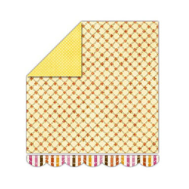Sassafras Lass - Sunshine Lollipop Collection - 12x13 Double Sided Paper - Buttercream Bliss
