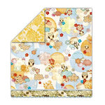 Sassafras Lass - Pocketful of Rosies Collection - 12x13 Double Sided Paper - Piccadilly