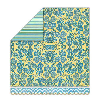 Sassafras Lass - Pocketful of Rosies Collection - 12x13 Double Sided Paper - Secret Garden, CLEARANCE