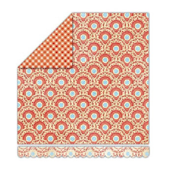Sassafras Lass - Pocketful of Rosies Collection - 12x13 Double Sided Paper - Feathered, CLEARANCE