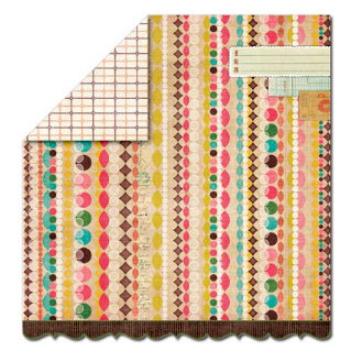 Sassafras Lass - Serendipity Collection - Fawnd of You Too - 12 x 12 Double Sided Paper - Love Letters, CLEARANCE