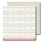 Sassafras Lass - Vintage Yummy Collection - 12x12 Double Sided Paper with Border Strip - Daintily, CLEARANCE