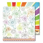 Sassafras Lass - Anthem Collection - 12x12 Double Sided Paper with Border Strip - Full Bloom, CLEARANCE