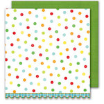 Sassafras Lass - Bungle Jungle Collection - 12x12 Double Sided Paper with Border Strip - Bungle Dots