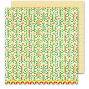Sassafras Lass - Bungle Jungle Collection - 12x12 Double Sided Paper with Border Strip - Tree Top, CLEARANCE