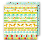 Sassafras Lass - Bungle Jungle Collection - 12x12 Double Sided Paper with Border Strip - Pal Parade
