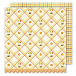 Sassafras Lass - Bungle Jungle Collection - 12x12 Double Sided Paper with Border Strip - Smooth Sailing
