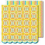 Sassafras Lass - Me Likey Collection - 12 x 12 Double Sided Paper with Border Strip - Refreshed, CLEARANCE
