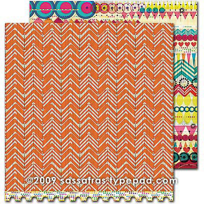 Sassafras Lass - Amplify Collection - 12 x 12 Double Sided Paper - Ziggy, CLEARANCE
