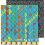 Sassafras Lass - Monstrosity Collection - 12 x 12 Double Sided Paper - Mash, CLEARANCE
