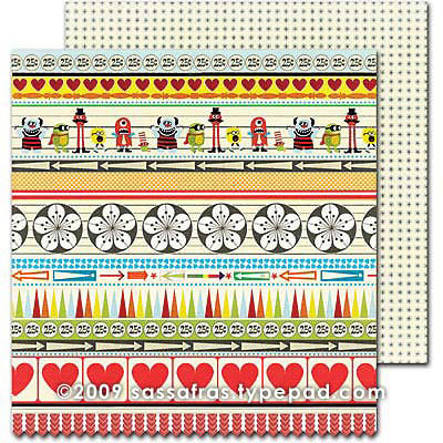 Sassafras Lass - Monstrosity Collection - 12 x 12 Double Sided Paper - Line Up , CLEARANCE
